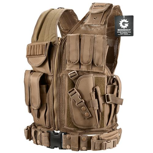 BARSKA Loaded Gear Tactical Vest VX-200 Tan (Dark Earth) BI12346 Model Number: BI12346?>
