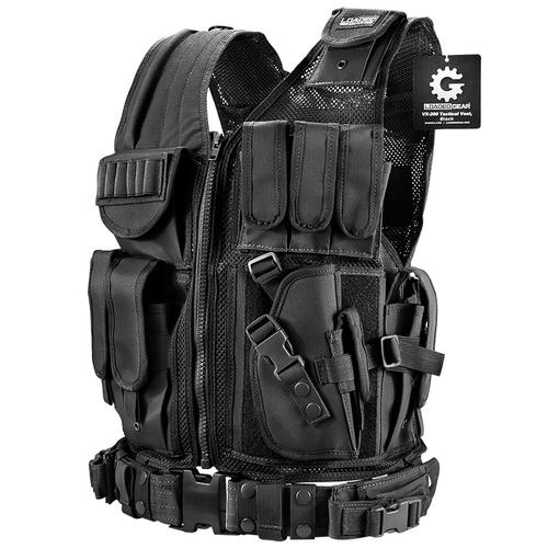 BARSKA Loaded Gear Tactical Vest VX-200 (Black) Right Hand BI12018 Model Number: BI12018?>