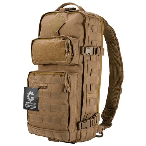 BARSKA Loaded Gear GX-300 Tactical Sling Backpack (Dark Earth)  BI12340 Model Number: BI12340?>