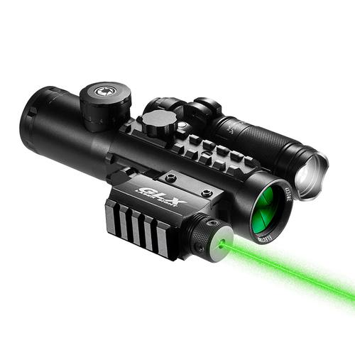 BARSKA 4x30mm IR Electro Sight Multi-Rail Tactical Scope Green Laser Light Combo By Barska DA12188 Model Number: DA12188?>