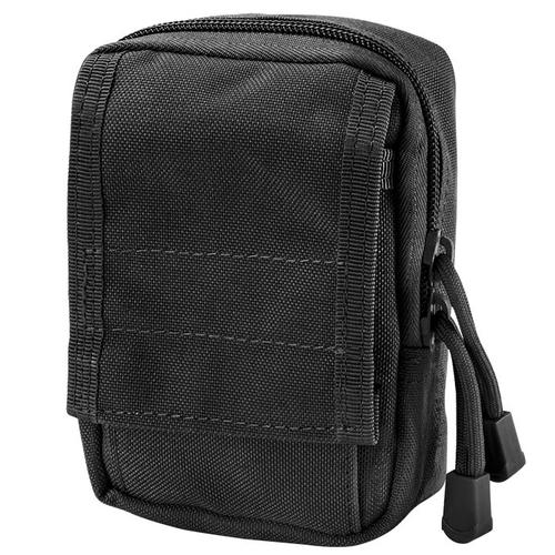 BARSKA Loaded Gear CX-800 Accessory Pouch (Black) By Barska  BI12630 Model Number: BI12630?>