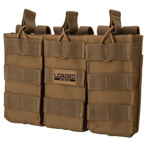 BARSKA Loaded Gear CX-200 Triple Magazine Pouch (Dark Earth) By Barska  BI12298 Model Number: BI12298?>