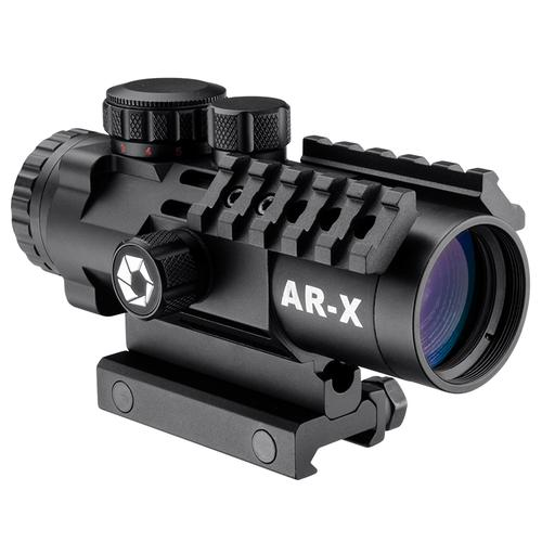 BARSKA 3x32mm IR AR-X Prism Rifle Scope w/ Mounting Rails by Barska AC12620 Model Number: AC12620?>
