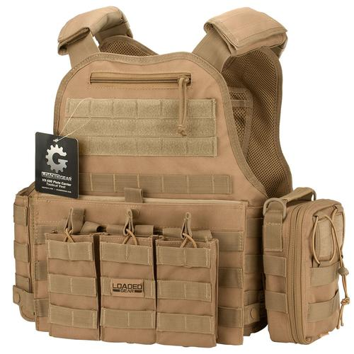 BARSKA VX-500 Combo Plate Carrier Vest with Mag and Medical Pouch (FDE) BI12312-C1 Model Number: BI12312-C1?>