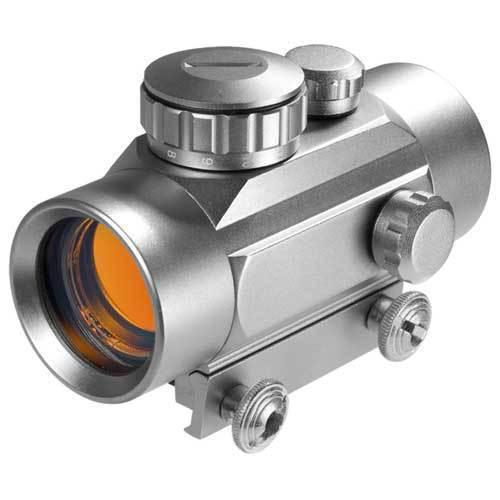 BARSKA 1x 30mm Red Dot Scope Silver Finish by Barska AC11086 Model Number: AC11086?>