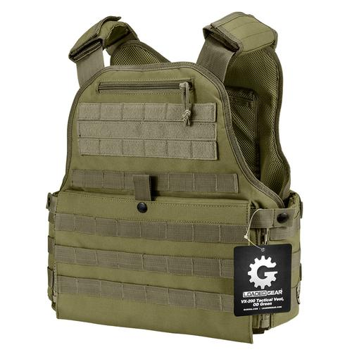 BARSKA MOLLE Plate Carrier Tactical Vest VX-500 Loaded Gear OD Green By Loaded Gear BI12290 Model Number: BI12290?>