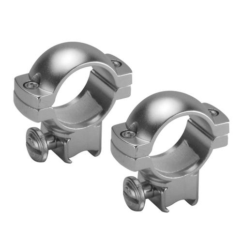 "BARSKA 1"" Medium Dovetail Style Rings, Silver, by Barska AI13300 Model Number: AI13300?>"