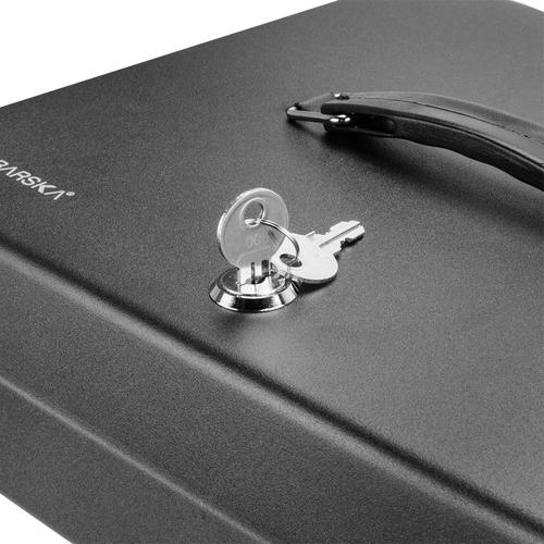 BARSKA 12 inch Standard Fold Out Cash Box with Key Lock CB13052 Model Number: CB13052?>