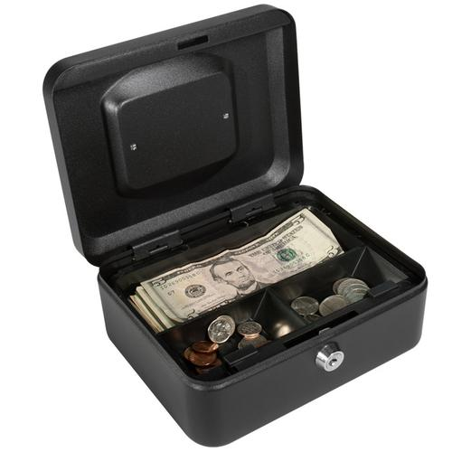 BARSKA Small Cash Box with Key Lock by Barska  CB11830 Model Number: CB11830?>