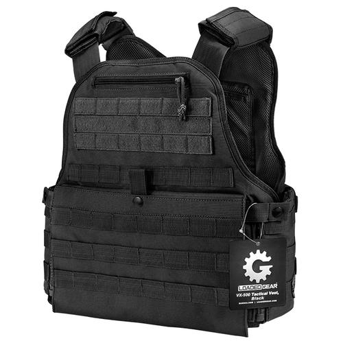 BARSKA MOLLE Plate Carrier Tactical Vest VX-500 Loaded Gear BI12260 Model Number: BI12260?>