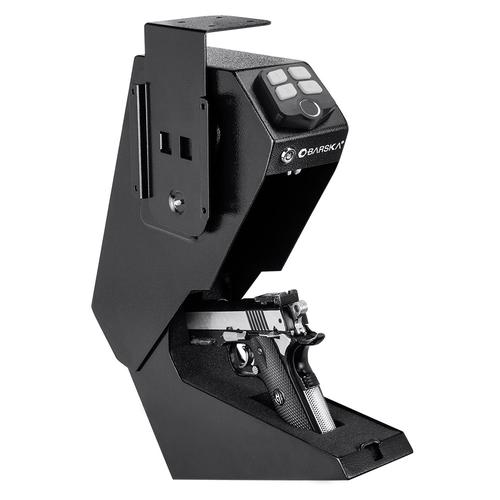 BARSKA Quick Access Biometric Handgun Desk Safe AX13092 Model Number: AX13092?>