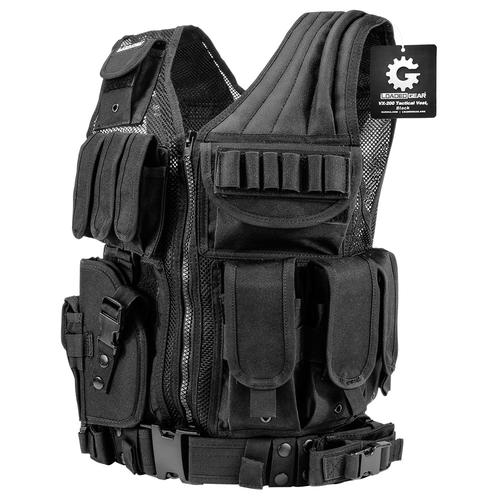 BARSKA Loaded Gear VX-200 Left Handed Tactical Vest, Black BI12154 Model Number: BI12154?>