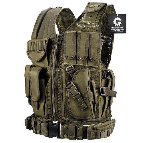 BARSKA Loaded Gear Tactical Vest VX-200 (OD Green) BI12332 Model Number: BI12332?>