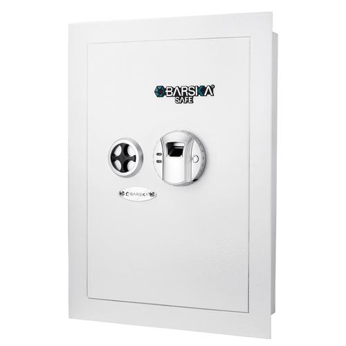 BARSKA White Biometric Wall Safe AX13030 Model Number: AX13030?>