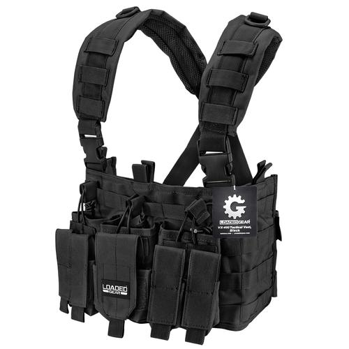 BARSKA Tactical Chest Rig VX-400 Loaded Gear Black BI12258 Model Number: BI12258?>