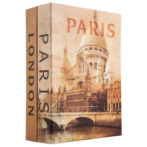 BARSKA Paris and London Dual Book Lock Box with Key Lock  CB12470 Model Number: CB12470?>