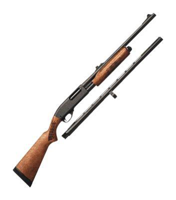 Remington Model 870 Express Pump-Action Shotgun Combo with Slug Barrel?>