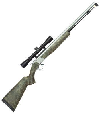 CVA Wolf Muzzleloader with Scope in TrueTimber Strata Camo?>