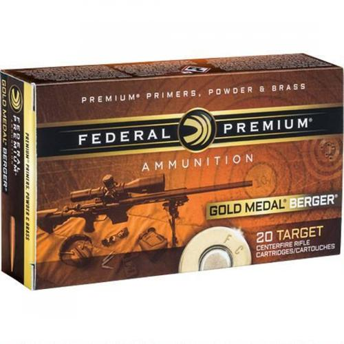 Federal Premium Gold Medal Berger Ammunition 6.5 Creedmoor 130 Grain Berger Hybrid Open Tip Match - Box of 20?>