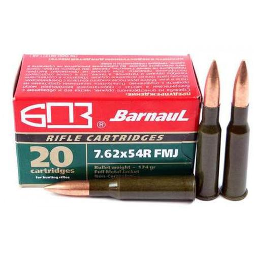 Barnaul Ammunition, 7.62x54, 174gr, FMJ - Box of 20?>