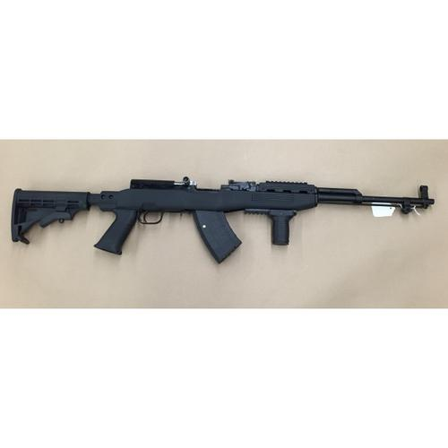 SKS Surplus Rifle 7.62x39 with Tapco Stock, Magazine installed, includes lower Picatinny Rail, Tapco Vertical Grip, SKS169B?>