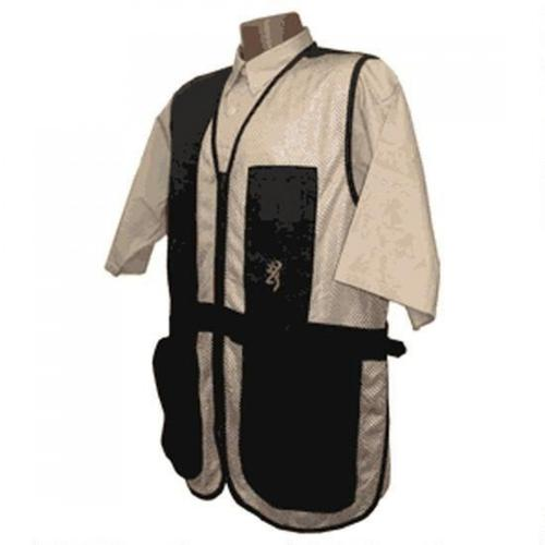 Browning Trapper Creek Shooting Vest X-Large Black and Tan 3050268904?>