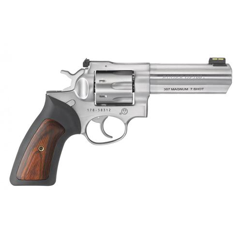 "Ruger GP100 Double Action Revolver .357 Mag, 4.2"" Barrel, 7 Rounds, Stainless Finish, 1771?>"