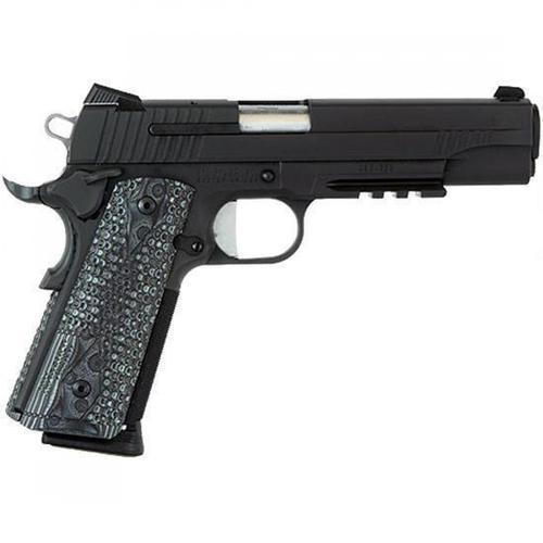 "Sig Sauer Extreme 1911 Semi-Auto Pistol .45 ACP 5"" Stainless Barrel 8 Rounds Night Sights Rail Ambi Safety Black 1911R-45-XTM-BLKGRY?>"