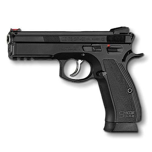 "CZ 75 SP-01 Shadow Line Semi-Auto Pistol, 9mm, 10 Round, 4.5"" Barrel, Rail?>"