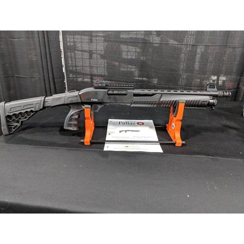 "Pallas Pump Action Shotgun, 12 Gauge, 14"" Barrel, Adjustable Stock w/Pistol Grip?>"