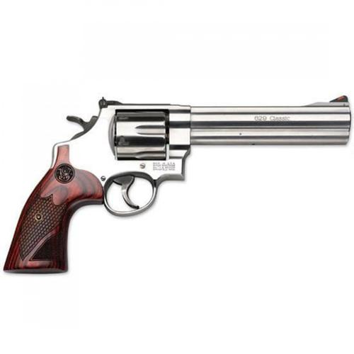 "Smith & Wesson 629 Deluxe Revolver, .44 Magnum, 6.5"" Barrel, 6 Rounds, Adjustable Sights, Wood Grips, Satin Stainless Finish, TALO Edition, 150714?>"