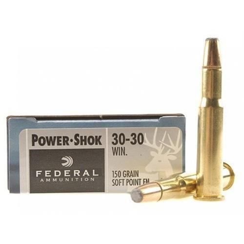 Federal Power-Shok Ammunition 30-30 Winchester 150 Grain Soft Point Flat Nose - 1 Box, 20 rounds?>