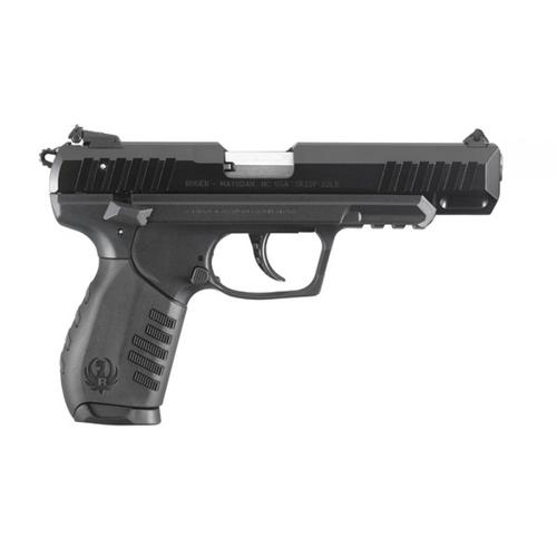 "Ruger SR22 Semi-Auto Pistol, .22LR Long Rifle, 4.5"" Barrel, Black Polymer Grip, Black Finish, 10 Round, 3620?>"