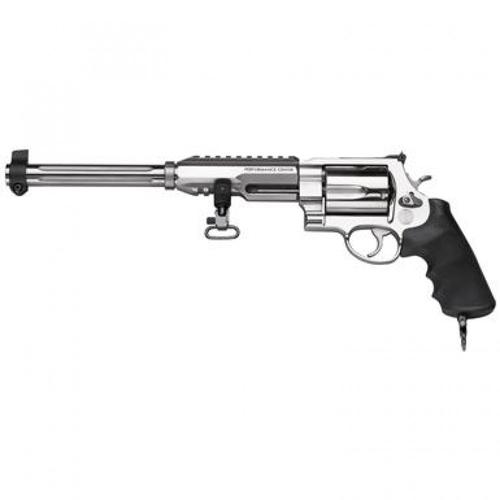 "Smith & Wesson 460XVR Hunter Revolver .460 S&W Magnum 12"" Barrel 5 Rounds Performance Center Tuned Action Chrome Hammer Stainless Steel 170280?>"