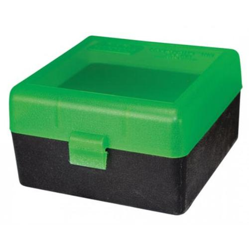 MTM Flip-Top Ammo Box 17 Remington, 204 Ruger, 223 Remington 100-Round Plastic Black/Green RS-100-16T?>
