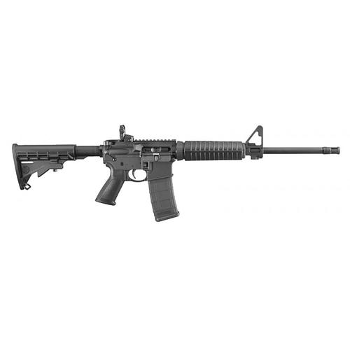 "Ruger 8501 AR-556 Modern Sporting Semi-Auto Rifle, 5.56x45mm NATO, 16.1"" Barrel, 5 Rounds, Black Synthetic Collapsible Stock, Restricted?>"