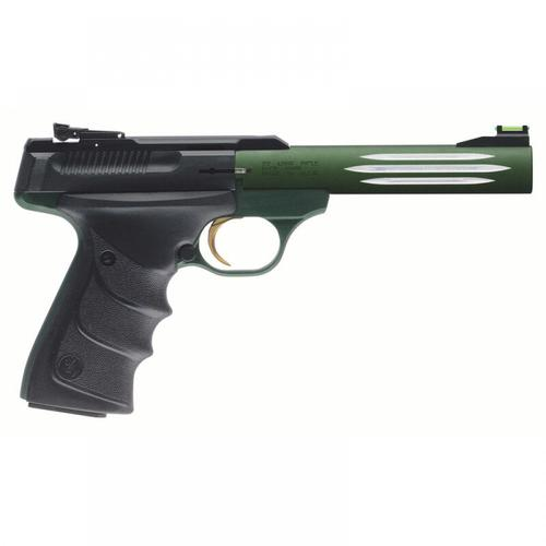 "Browning Buck Mark Lite Green Semi-Auto Pistol .22LR 5.5"" Barrel 10 Rounds Black/Green 051516490?>"