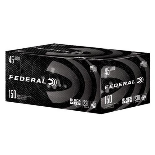 Federal Black Pack Ammunition 45 ACP, FMJ, 230 Grain C45230BP150 - 150 Rounds?>