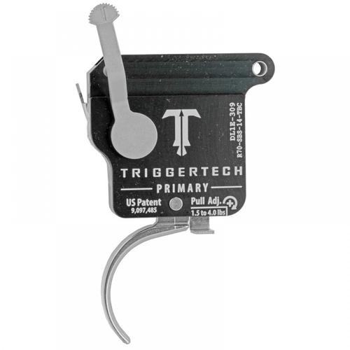 TriggerTech Remington 700 Primary Drop In Replacement Trigger Right Hand/Bolt Release/Curved Lever Stainless Steel Finish R70-SBS-14-TBC?>