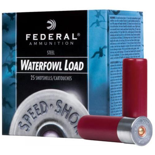 "Federal Speed-Shok Waterfowl Ammunition, 12 Gauge, BBB Steel Shot, 3 1/2"", 1-3/8oz, 1550fps - Box of 25?>"