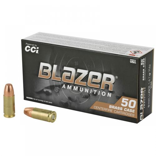 CCI Blazer Brass Ammunition, 9mm Luger, 147 Grain, Full Metal Jacket, 5203 - Box of 50?>