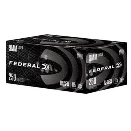 Federal Black Pack Ammunition 9mm, FMJ, 115 Grain C9115BP250 - 250 Rounds?>