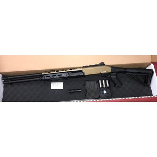 "Canuck Sentry Pump Action Shotgun, 12 Gauge, 3"" Chamber, 8 Rounds, 24"" Barrel, 3 Mobile Chokes, Fibre Optic Front Sight, Telescopic Stock, Bronze?>"