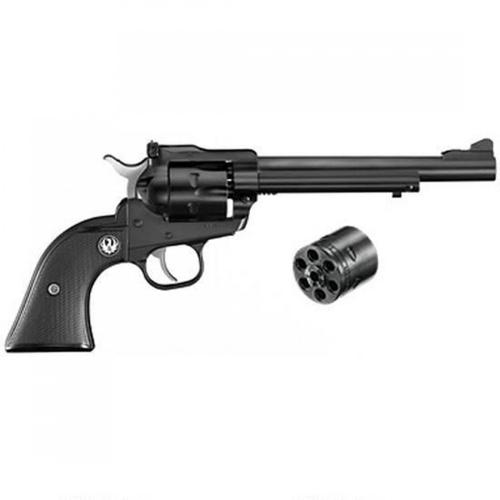 "Ruger Single Six Single-Action Revolver .22 LR / .22 Magnum 6.5"" Barrel 6 Rounds Blued Steel Adjustable Sights Black Grip NR-6 0622?>"