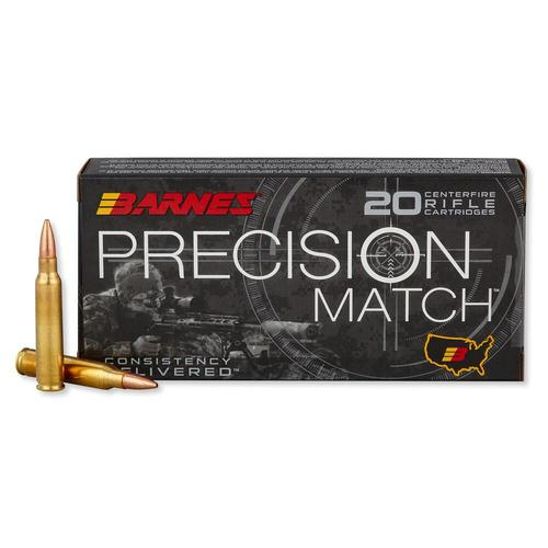 Barnes Precision Match Ammunition 5.56x45mm NATO 85 Grain Open Tip Match - Box of 20?>