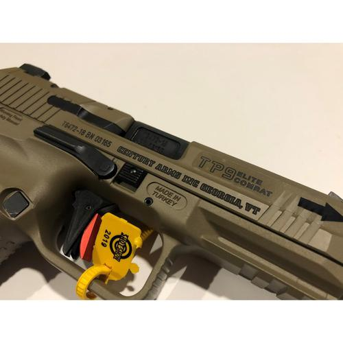 "Century Arms Canik TP9 Elite Combat Semi-Auto Pistol 9mm 4.73"" Threaded Barrel FDE HG4582D-N?>"