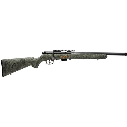 "Savage MKII FV-SR 'Troy Landry Signature Series' Rimfire Rifle, .22LR, 16.5"" Threaded, Gator Camo Stock, Black Finish, 28717?>"
