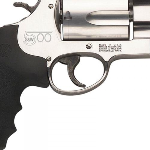 "Smith & Wesson 500, .500 S&W Magnum Revolver, Stainless 5 Round w/8 3/8"" Barrel, 163500?>"
