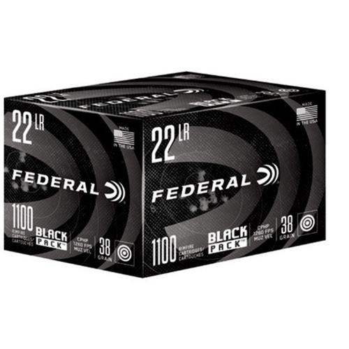 Federal Black Pack Ammunition, 22LR, CPHP, 38 Grain 788BF1100 - 1100 Rounds?>