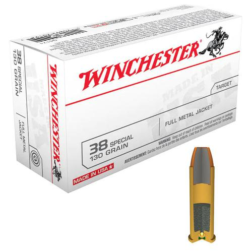 Winchester USA Ammunition 38 Special 130 Grain Full Metal Jacket (FMJ) Q4171 - Box of 50?>
